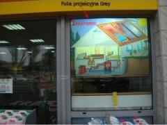 Folia okienna projekcyjna do projekcji tylnej Grey