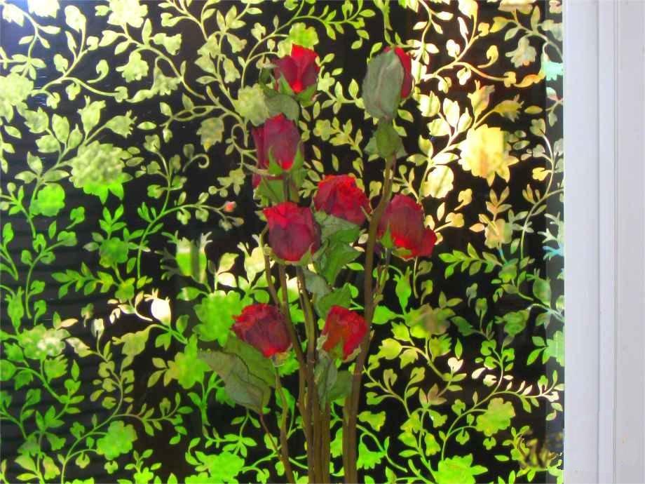 Folia dekoracyjna Fiori Neri
